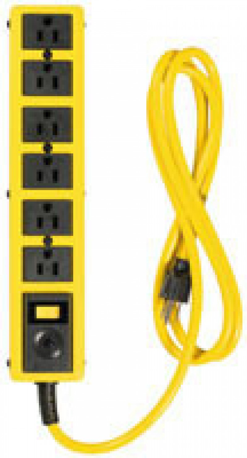 Coleman Cable 6-Outlet Power Strip