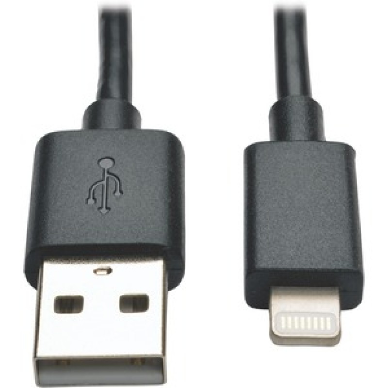 Tripp Lite 10IN LIGHTNING CHARGING CABLE USB SYNC IPAD/IPHONE/IPOD BLACK