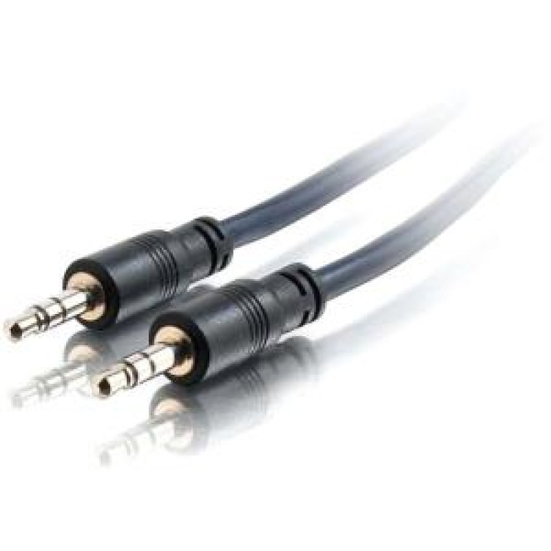 C2G 25ft Plenum-Rated 3.5mm Stereo Audio Cable with Low Profile Connectors