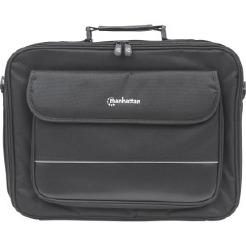 "Manhattan Empire II 17"" Laptop Briefcase, Black"