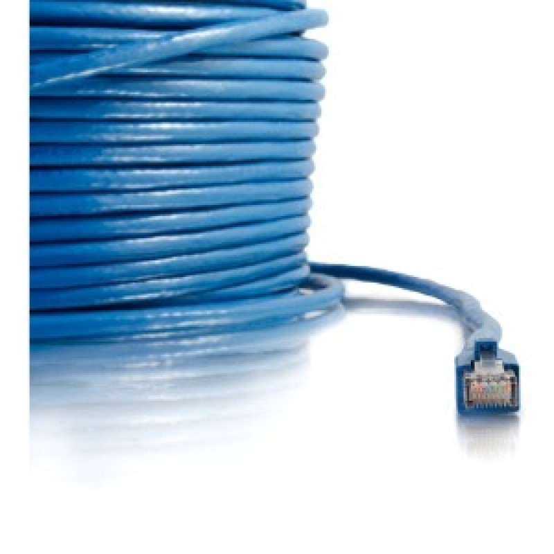 C2G 150ft Cat6 Snagless Solid Shielded Network Patch Cable - Blue