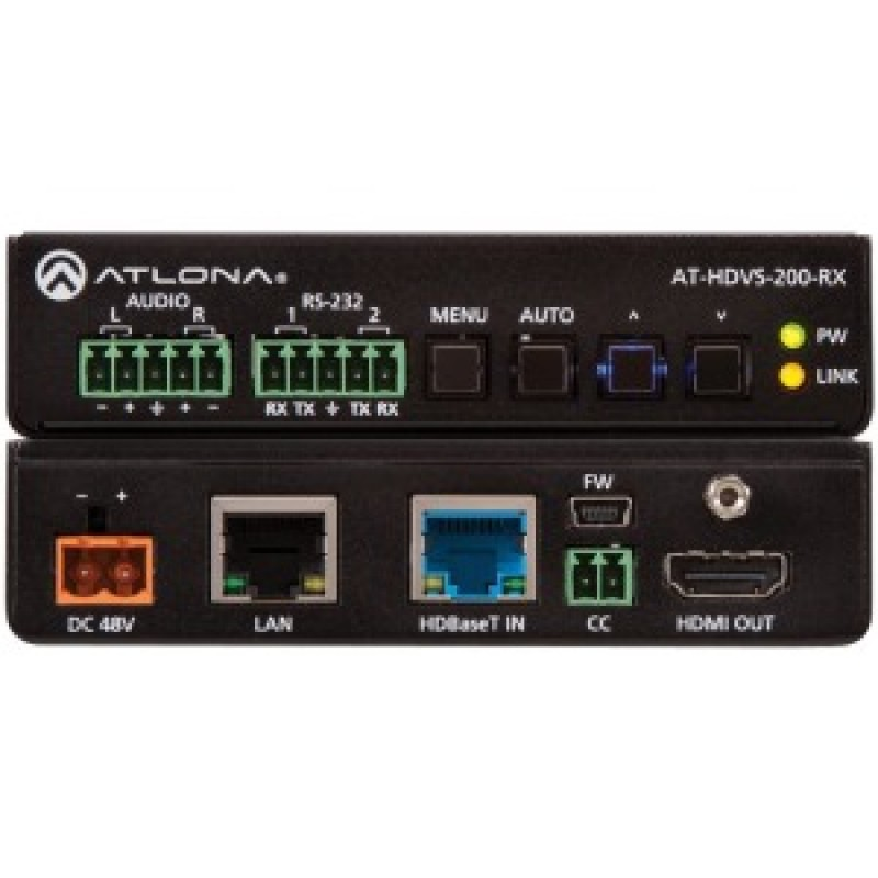 Atlona Ethernet-Enabled HDBaseT Scaler with HDMI and Analog Audio Outputs
