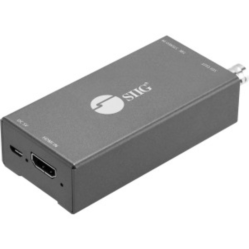 SIIG HDMI to 3G/HD/SD-SDI with Audio Embedder Mini Converter