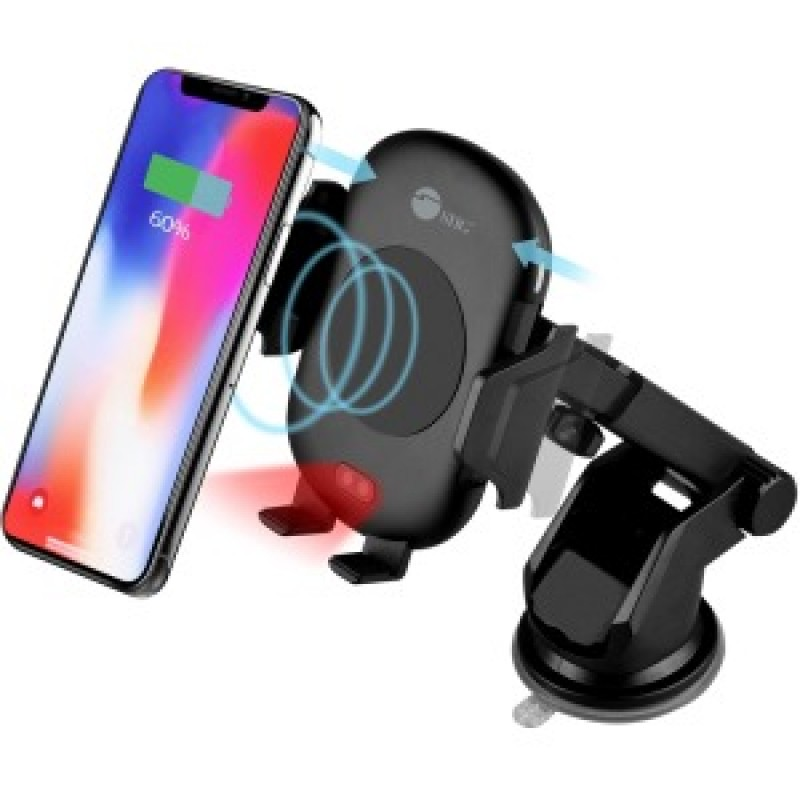 SIIG Auto-Clamping Wireless Car Charger Mount/Stand