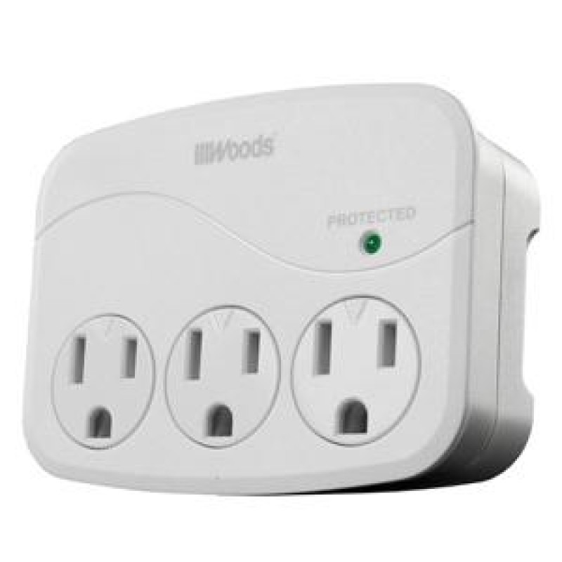 Woods 3-Outlet Surge Suppressor/Protector