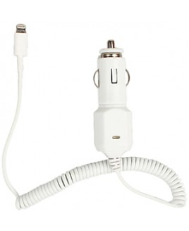 4Xem 2.1A LIGHTNING 8PIN CAR CHARGER FOR APPLE IPHONE IPAD IPAD WHITE