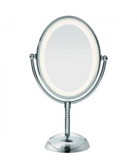 Conair-Personal Care OVAL DOUBLESIDED LIGHTED MIRROR LED LIFETIME LIGHTING