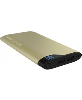 Cygnett CHARGE UP POLYMER DIGITAL 6000MAH 2 PORTS / 2.1A GOLD