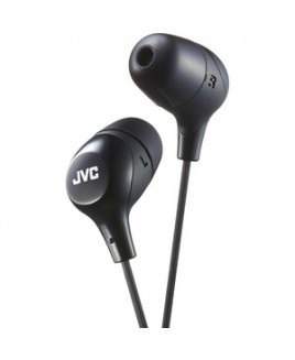 Jvc-Headphones MARSHMALLOW WIRED EARBUD ONE BUTTON REMOTE & MIC BLACK