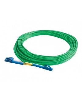 C2G 5m LC-LC 9/125 Duplex Single Mode OS2 Fiber Cable - Green - 16ft - patch cable - 5 m - green