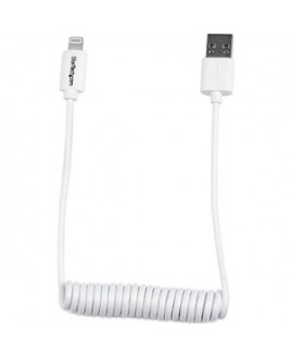 StarTech.com Lightning to USB Cable - Coiled - 0.6m (2ft) - White