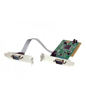 StarTech.com 2 Port PCI Low Profile RS232 Serial Adapter Card with 16550 UART - serial adapter