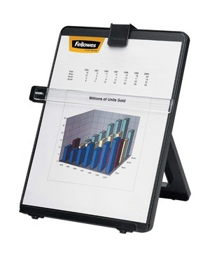 Fellowes NON-MAGNETIC COPYHOLDER LETTER BLACK HOLDS UP TO 125SHEET