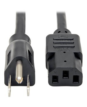Tripp Lite 12FT COMPUTER POWER CORD 18AWG 10A 125V 5-15P TO C13