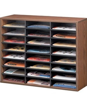 Fellowes LITERATURE ORGANIZER 24 COMPARTMENT SORTER FOR LETTER MED