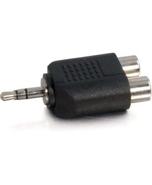 C2G - Av Line DUAL RCA 3.5MM ADAPTER 2 RCAF TO 1 3.5MM-M
