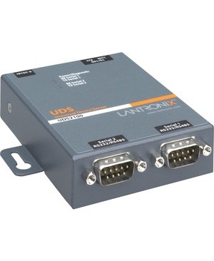 Lantronix Device Networking UDS2100 DEVICE SERVER 2PRT 10/100 RS232/422/485 DOM PS