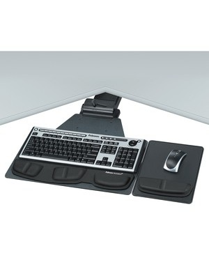Fellowes PRO SERIES CORNER UNDERDESK EXECUTIVE KEYBOARD TRAY