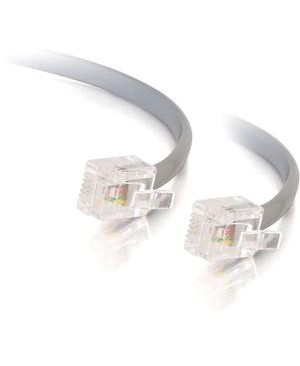 C2G 14FT RJ12 SILVER MODULAR TELEPHONE CABLE