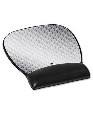3M - Workspace Solutions MOUSEPAD AND WRIST REST GEL BLK LARGE LEATHERETTE PRECISE MOUSE