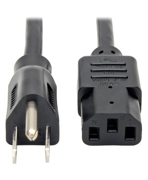 Tripp Lite 2FT COMPUTER POWER CORD 18AWG 10A 5-15P TO C13 5-PACK