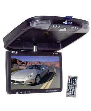 Pyle-Car Audio/Video 9 FLIP DOWN ROOF MNT MONITOR & DVD PLAYER WITH WIRELESS FM MOD