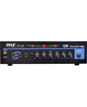 Pyle Audio - Home 120 WATT MIC PA MONO AMPLIFIER W/70V OUTPUT & MIC TALKOVER