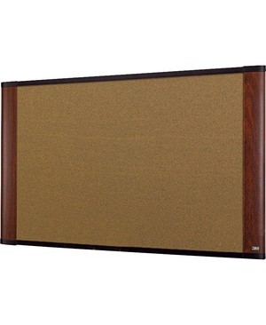 3M - Workspace Solutions CORK BULLETIN BOARD 48X36 MAHOGANY FINISH FRAME