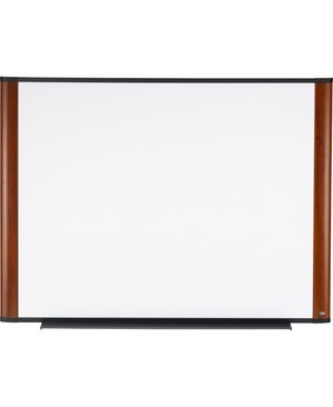 3M - Workspace Solutions DRY ERASE BOARD MELAMINE MAHOGANY FINISH 48INX36IN WIDE