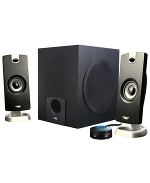 Cyber Acoustics 3PC SPEAKER SYSTEM 7RMS WATTS SUBWOOFER FLAT PANEL MP3 CRADLE