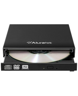 Aluratek Inc EXTERNAL SLIM 8X DVD USB 2.0 BURNER WITH TRAY LOAD