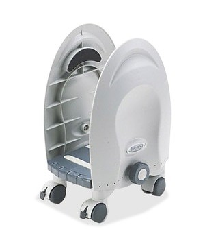 Kantek DELUXE CPU STAND ADJUSTABLE WIDTH TO ACCOMODATE MOST CPUS GRAY