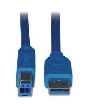 Tripp Lite 6FT USB SUPERSPEED DEVICE CABLE USB 3.0 USB-A USB-B 5BPS M/M BLUE