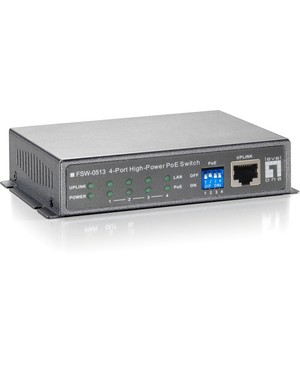 Cp Technologies 4- PORT 10/100 HIGH POWER POE SWITCH (120W)