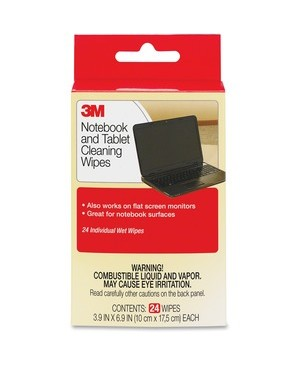 3M - Workspace Solutions NOTEBOOK SCREEN CLEANING WIPES PACK OF 24, CASE OF 36