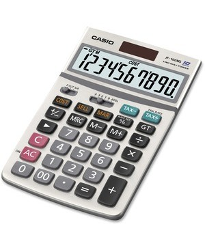 Casio-Computer DESK CALCULATOR W/ SOLAR PLUS TAX CALCULATIONS/ EXTRA BIG DISPLAY