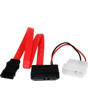 Startech.Com 12IN SATA TO SATA SLIMLINE WITH LP4 POWER CABLE ADAPTER