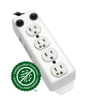 Tripp Lite 4 OUTLET MEDICAL HG POWER STRIP HOSPITAL PATIENT CARE 3 FT CORD 15A