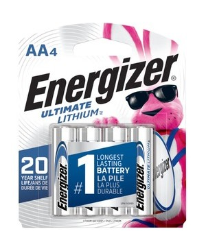 Energizer-Batteries ENERGIZER AA HIGH ENERGY LITHIUM BATTERY - 4 PACK