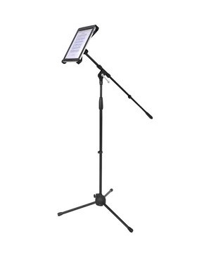 Pyle - Pro Sound MULTIMEDIA MICROPHONE STAND WIT H ADAPTER FOR IPAD 2 (ADJUSTABLE FO