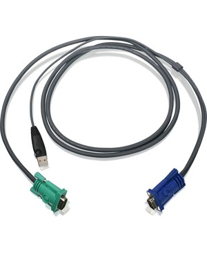 Iogear 6FT USB/VGA BONDED KVM CABLE