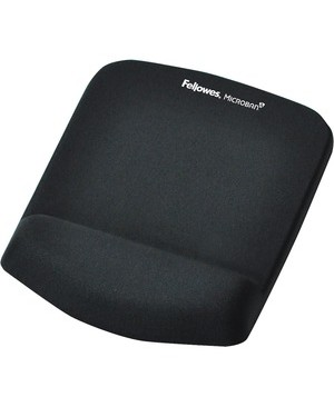 Fellowes PLUSHTOUCH MOUSE PAD/WRIST REST BLACK SOFTEST PLACE YOUR WRIST