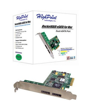 Highpoint Technologies 4CHANNEL 3G SATA PCIE RAID MAC 4X ESATA PORTS 3G VALUE RAID HBA
