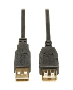 Tripp Lite 16FT USB EXTENSION CABLE M/F USB 2.0 HIGH SPEED 28/24 AWG USB-A