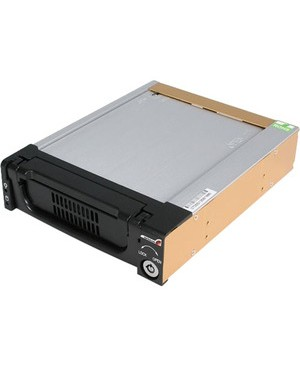 Startech.Com BLACK ALUMINUM 5.25IN RUGGED SATA HDD MOBILE RACK DRAWER