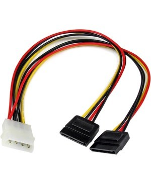 Startech.Com 12IN INTERNAL LP4 TO 2X SERIAL ATA POWER Y CABLE ADAPTER
