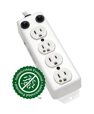 Tripp Lite 4 OUTLET MEDICAL HG POWER STRIP HOSPITAL PATIENT CARE 2 FT CORD 15A