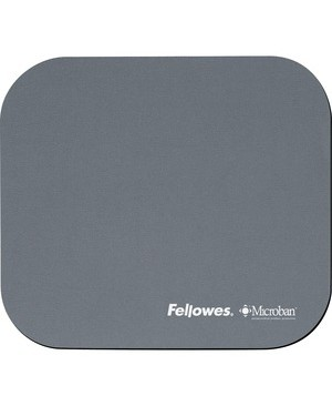 Fellowes MICROBAN SILVER MOUSEPAD ANTI-BACTERIAL
