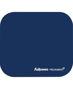 Fellowes MOUSE PAD W/MICROBAN PROTECTION ANTI-BACTERIAL NAVY BLUE