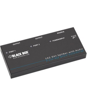 Black Box Corporation DVI-D SPLITTER WITH AUDIO & H DCP 1 X 2